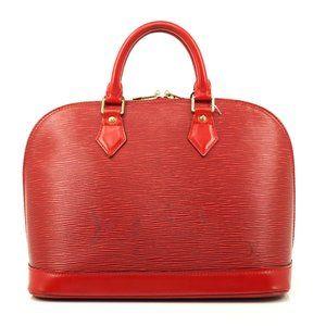 Auth Louis Vuitton Alma Hand Bag Red #6686L25